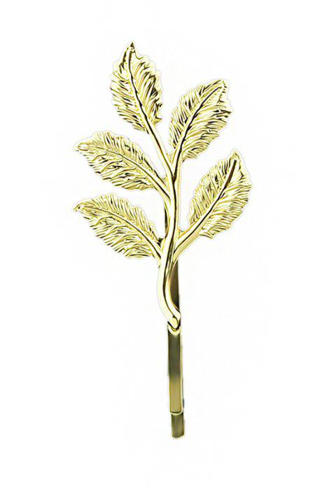 Minimalist Metal Leaf Hairpin for Women - GOLD