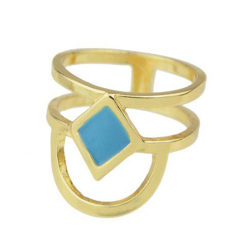 Fashion Metal Geometric Party Finger Ring - GOLD ONE-SIZE