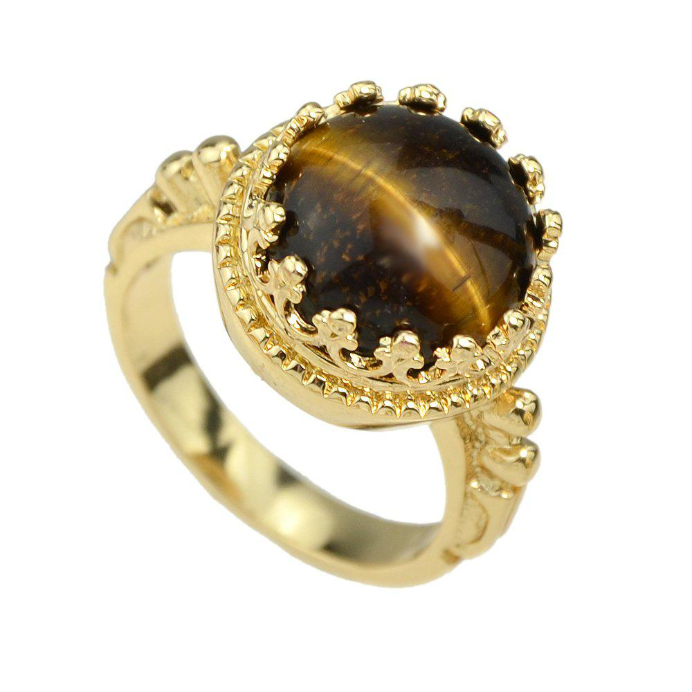 Fashion Colorful Resin Round Bead Finger Ring - multicolor B ONE-SIZE