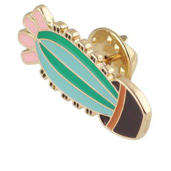 Colorful Enamel Cactus Potted Plant Women Brooch Jewelry - multicolor