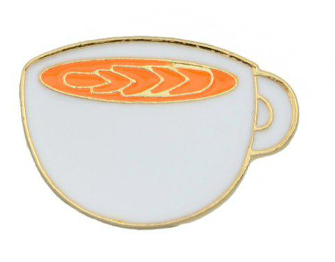 Lovely Colorful Enamel Cup Drink Brooch - multicolor C