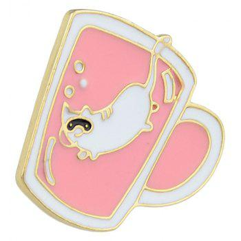 Lovely Colorful Enamel Cup Drink Brooch - multicolor B