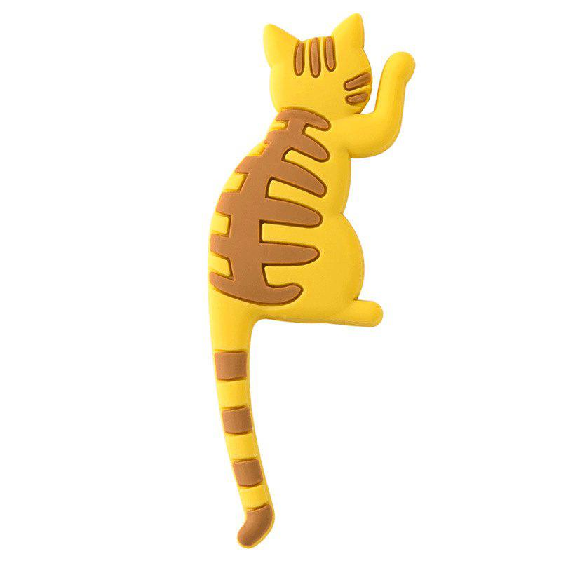 Cute 3D Fun Cat Refrigerator Magnets with Tail Hook - multicolor A