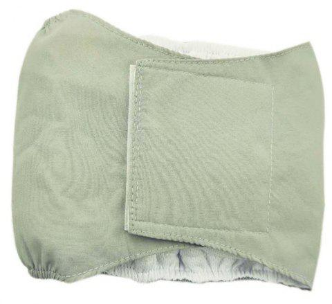 Washable Male Dog Diaper Belly Wrap - LIGHT GRAY