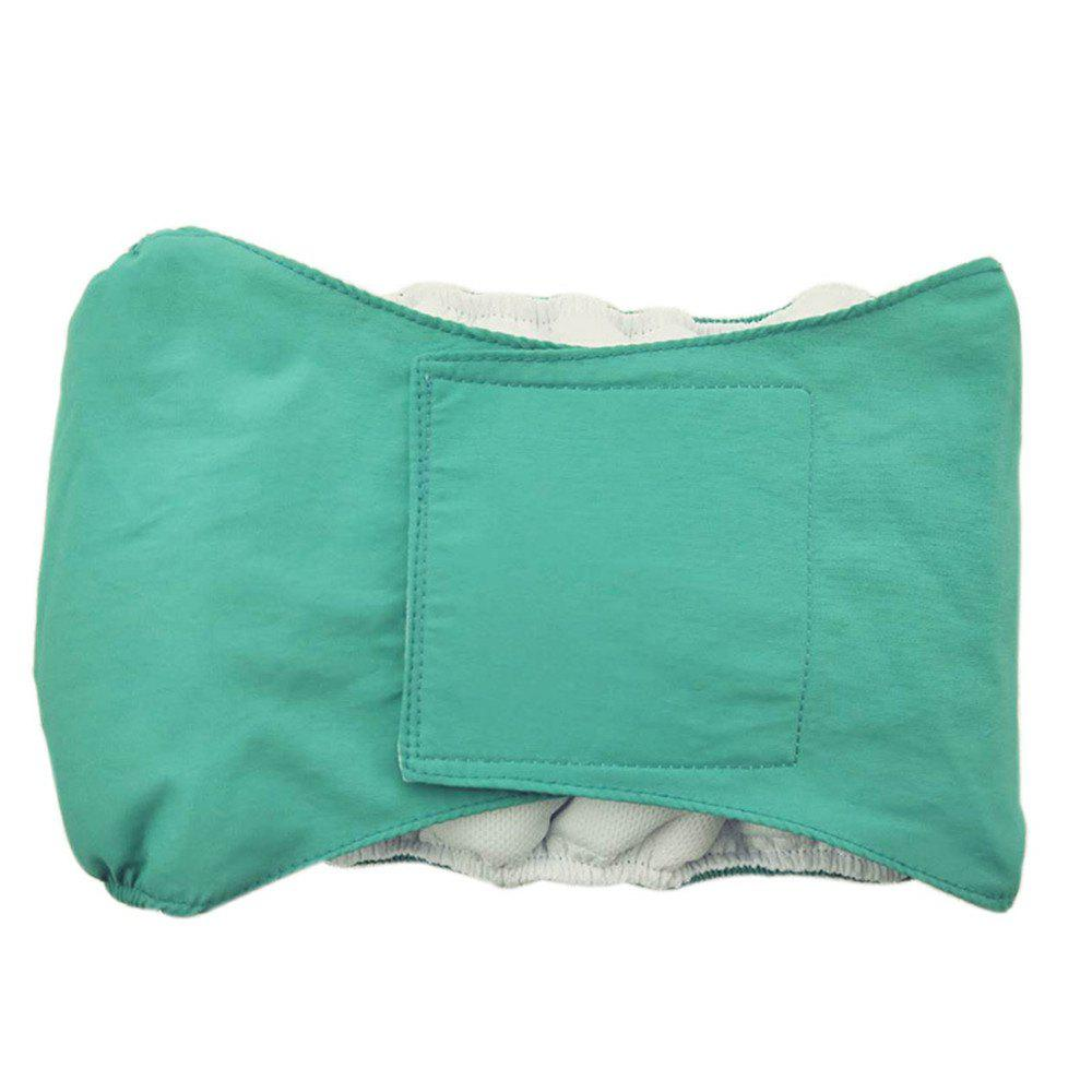 Washable Male Dog Diaper Belly Wrap - BLUE GREEN