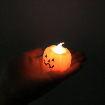 Pumpkin LED Electronic Candle Lamp  Halloween Decoration - multicolor A