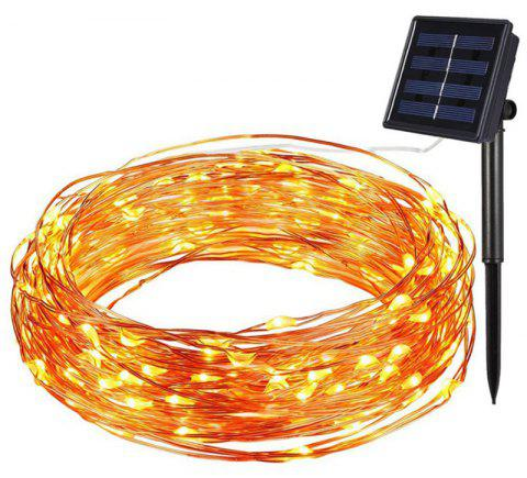 Solar Powered 100 LED Copper Wire Lights with Waterproof Starry Strin - NIGHT