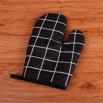 Anti Heat High Temperature And Thickening Microwave Oven Baking Gloves - BLACK