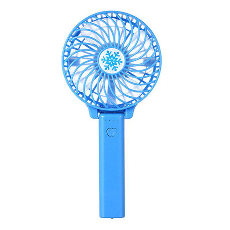 USB Handheld Fan Mini Portable Outdoor Electric  with Rechargeable Battery Adjustable 3 Speeds - BLUE