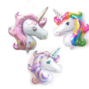 YEDUO Unicorn Party Birthday Fiançailles Fiançailles Enfants Ballons De Foil - Rose