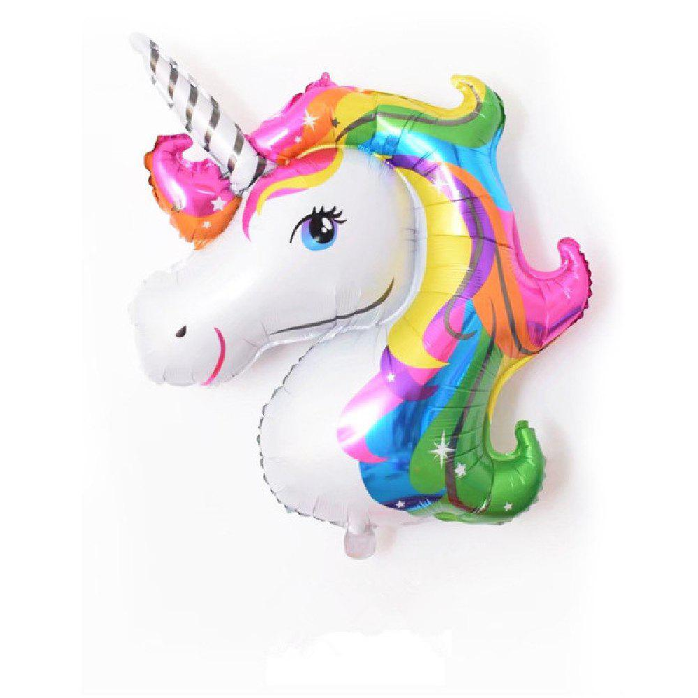 YEDUO Unicorn Party Birthday Fiançailles Fiançailles Enfants Ballons De Foil - multicolor