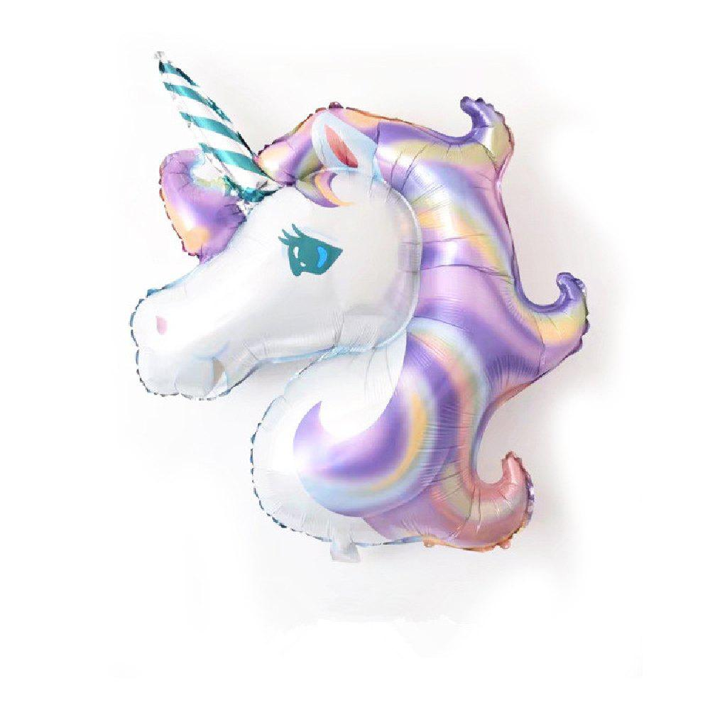 YEDUO Unicorn Party  Birthday Wedding Engagement Children's Day Foil Balloons - PURPLE SAGE BUSH