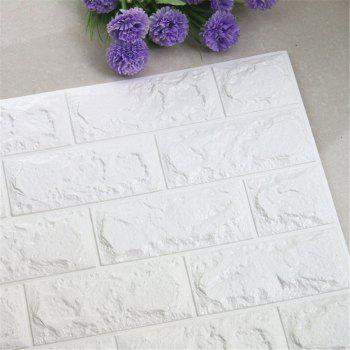 Creative 3D Wallpaper PE Mousse DIY Sticker Mural Décoration Décoration - Blanc