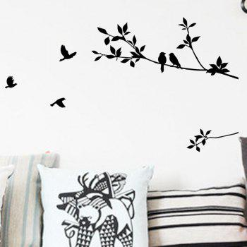 Twigs and Bird Wall Stickers - BLACK