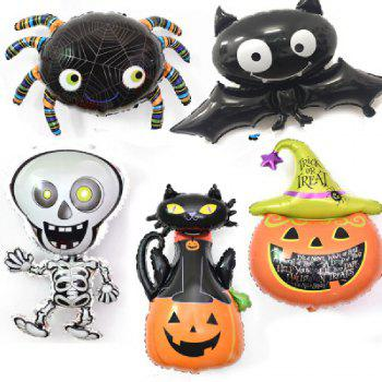 YEDUO Halloween Pumpkin Ghost Balloons Decorations Foil Toys Party Supplies - multicolor O