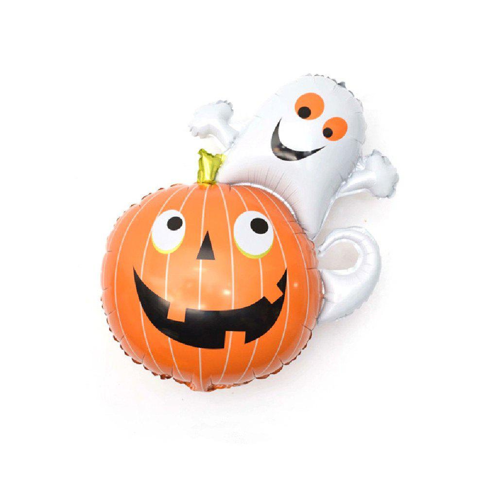 YEDUO Halloween Pumpkin Ghost Balloons Decorations Foil Toys Party Supplies - multicolor V