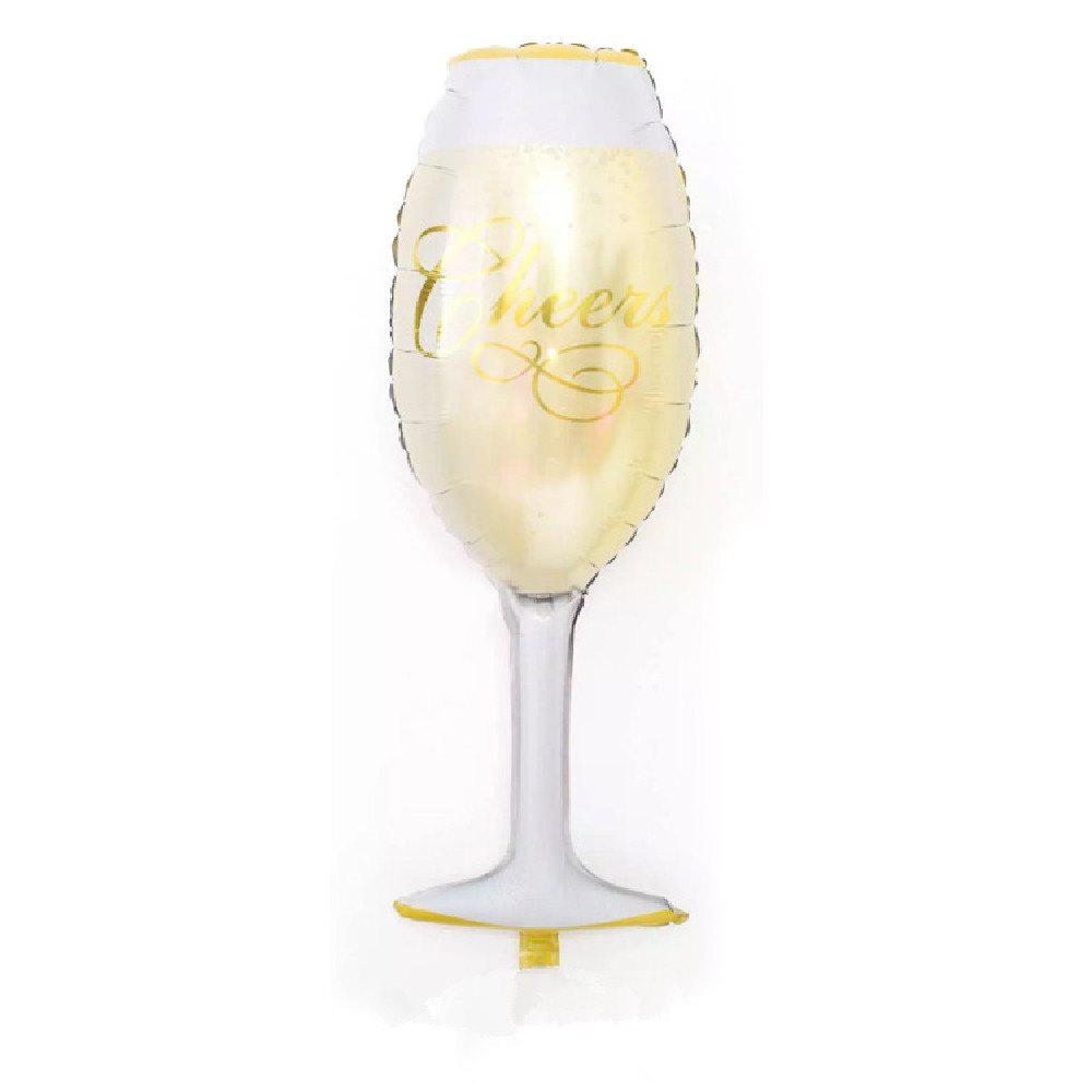 YEDUO Champagne Wine Bottle Cup Foil Balloons Birthday Wedding Decorations party - ANTIQUE WHITE