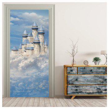 MailingArt 3D HD Canvas Print Door Wall Sticker Mural Home Decoration D002 - multicolor 77 X 200 CM X 1