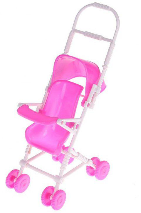 Stroller for Barbie Doll Infant Kids Carriage Stroller Toy - PINK CUPCAKE