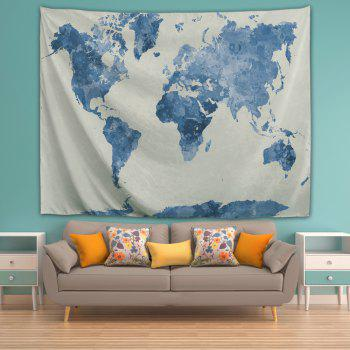 Ink World Map 3D Printing Home Wall Hanging Tapestry for Decoration - multicolor A W153CMXL130CM