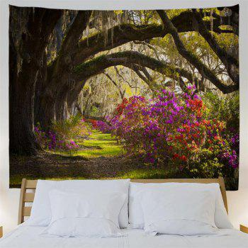 Oak Azaleas 3D Printing Home Wall Hanging Tapestry for Decoration - multicolor A W230CMXL180CM