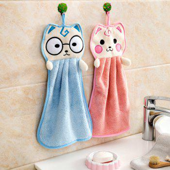 DIHE Intensification Cat Cartoon Originality  Towel - BLUE ZIRCON
