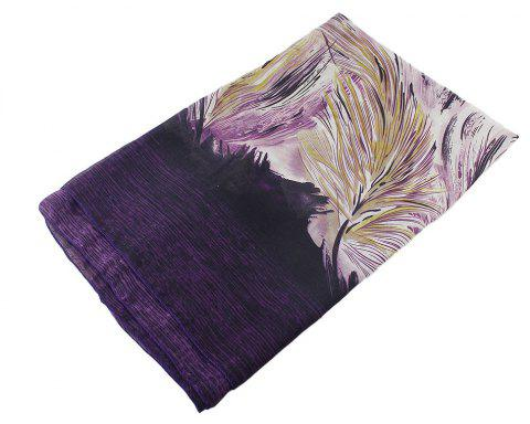 Fashion Colorful Flower Printed Long Scarf for Women - multicolor C