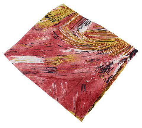 Fashion Colorful Flower Printed Long Scarf for Women - multicolor D
