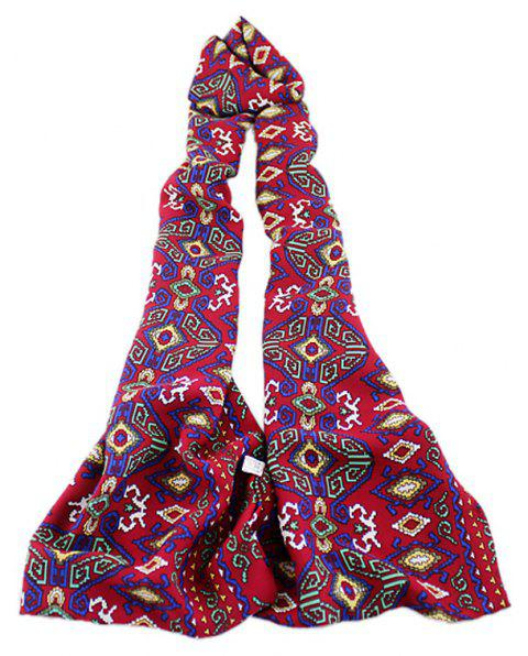 Fashion Women Geometric Printing Long Scarf - multicolor B