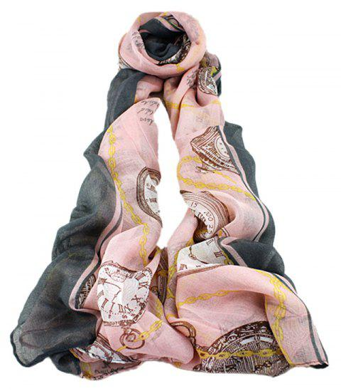 Fashion Women Multicolor Voile Soft Print Scarf - multicolor D