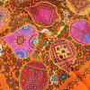 Fashion Trees Flower Printed Silk Square Scarf - multicolor A
