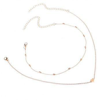 Peach Heart Clavicle Necklace Pendant - GOLD