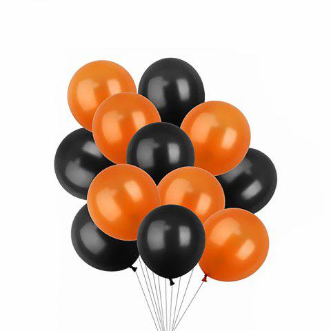 Halloween Balloons Decorations Latex Balloons 12-inch Black and Orange 10PCS - multicolor