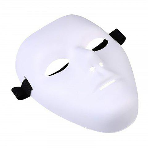 Thick Blank Male The Phantom Mask Full Face Decorating Craft Halloween - WHITE