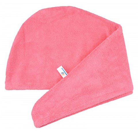 Women Absorbent Microfiber Towel Turban Hair-Drying Shower Cap - BEAN RED