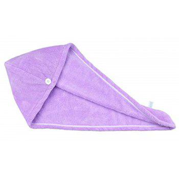Women Absorbent Microfiber Towel Turban Hair-Drying Shower Cap - LILAC