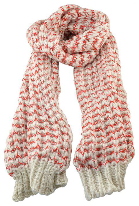 Fashion Knitted Wool Long Women Scarf - multicolor B