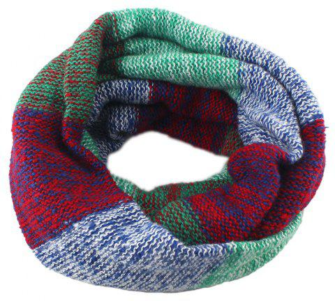 Fashion Colorful Patchwork Wool Scarf for Women - multicolor B