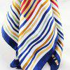 Multicolor Rayon Striped Square Scarf for Women - multicolor
