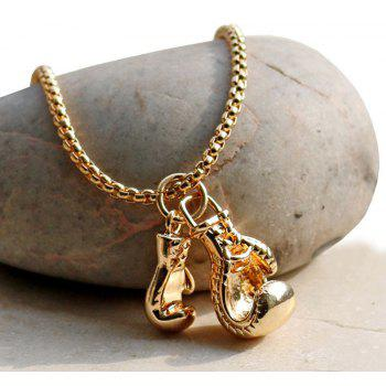 Collier Pendentif Vintage Fitness Double Boxing Gloves - Cuivre