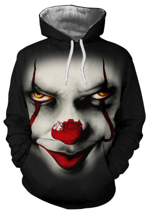 Clown Series Digital Printing Men's Hoodie Sweater - multicolor B 2XL