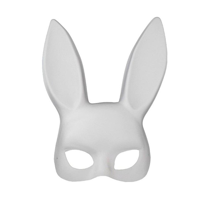 Bar KTV Nightclub Masque Halloween Masquerade Bunny - Blanc