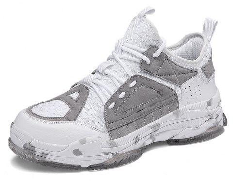 ZEACAVA Autumn New Crystal Outsole Fashion Sneakers - LIGHT GRAY 41