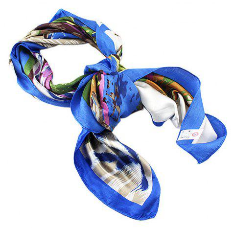 Fashion Colorful Oil Painting Kerchief Scarf - multicolor B