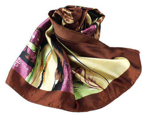 Fashion Colorful Oil Painting Kerchief Scarf - multicolor C