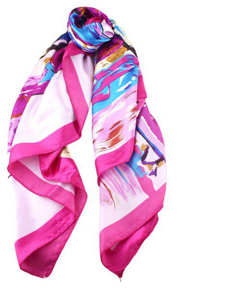 Fashion Colorful Oil Painting Kerchief Scarf - multicolor A