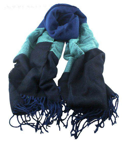 Patchwork Long Polyester Tassels Scarf for Women - multicolor A