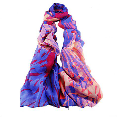 Fashion Crash Color Fluorescent Ink Scarf - multicolor B