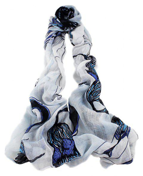 Fashion Minimalist Begonia Flower Printed Scarf - multicolor