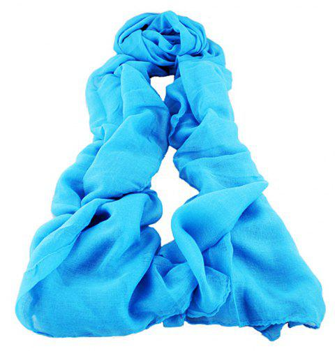 Candy Color Cute Voile Scarf for Women - multicolor A